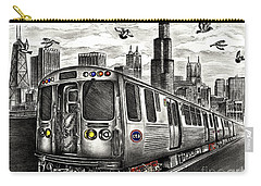 Chicago Cta Train Carry-all Pouch