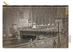 Chicago Dusable Bridge Street Scene Carry-all Pouch
