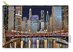 Chicago Full City View Carry-all Pouch by Frozen in Time Fine Art Photography