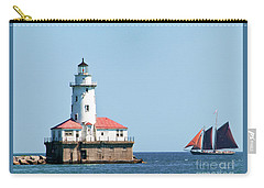 Chicago Harbor Lighthouse And A Tall Ship Carry-all Pouch