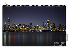Carry-all Pouch featuring the photograph Chicago In Blue by Andrea Silies