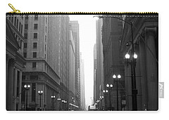 Chicago In The Rain 2 B-w Carry-all Pouch