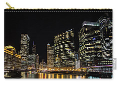 Chicago Night Skyline From Wolf Point Carry-all Pouch