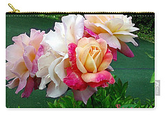 Carry-all Pouch featuring the photograph Chicago Peace Roses by Sadie Reneau