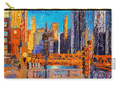 Chicago River Bridges Carry-all Pouch