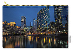 Chicago River Reflections At Dusk  Carry-all Pouch