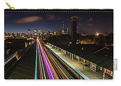 Chicago Skyline And Train Lights Carry-all Pouch