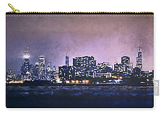 Chicago Skyline From Evanston Carry-all Pouch by Scott Norris