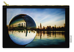 Chicago Skyline Though A Glass Ball Carry-all Pouch
