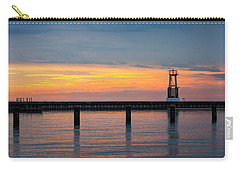 Carry-all Pouch featuring the photograph Chicago Sunrise At North Ave. Beach by Adam Romanowicz