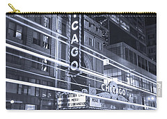 Chicago Theater Marquee B And W Carry-all Pouch