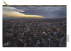 Carry-all Pouch featuring the photograph Chicago Westward by Steven Sparks