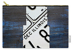 Chicago Windy City Harris Sears Tower License Plate Art Carry-all Pouch by Design Turnpike