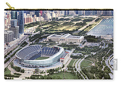 Carry-all Pouch featuring the photograph Chicago's Soldier Field by Adam Romanowicz