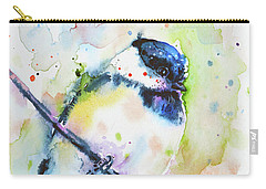 Carry-all Pouch featuring the painting Chick-a-dee-dee-dee by Zaira Dzhaubaeva