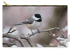 Carry-all Pouch featuring the photograph Chickadee - D010026 by Daniel Dempster
