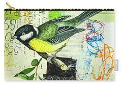 Chickadee Carry-all Pouch by Elena Nosyreva
