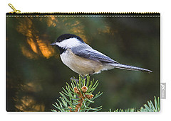 Chickadee In Spruce  Carry-all Pouch