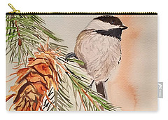 Chickadee In The Pine Carry-all Pouch