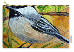 Chickadee In The Pines - Birds Carry-all Pouch