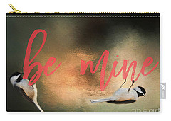 Carry-all Pouch featuring the photograph Chickadee Love by Darren Fisher