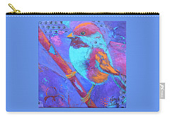 Chickadee Carry-all Pouch by Nancy Jolley