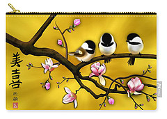 Chickadee On Blooming Magnolia Branch Carry-all Pouch
