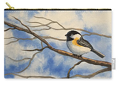 Chickadee On Branch Carry-all Pouch