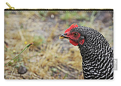 Carry-all Pouch featuring the photograph Chicken And The Weed by Katie Wing Vigil