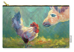 Chicken Meets Llama Carry-all Pouch