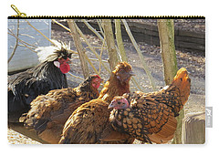 Carry-all Pouch featuring the photograph Chicken Protest by Jeanette Oberholtzer