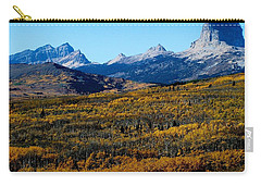 Chief Mountain In The Fall Carry-all Pouch