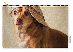 Chihuahua In A Newsboy Hat Carry-all Pouch