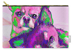 Carry-all Pouch featuring the digital art Chihuahua Love by Jane Schnetlage