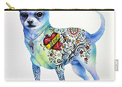 Carry-all Pouch featuring the painting Chihuahua Topo by Patricia Lintner