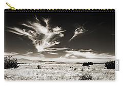 Chihuahuan Desert In Sepia Carry-all Pouch by Allen Sheffield