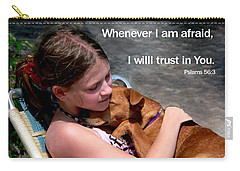 Child And Puppy Psalms Carry-all Pouch