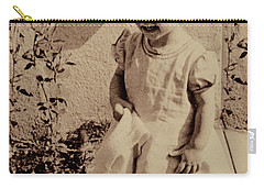 Carry-all Pouch featuring the photograph Child Of  The 1940s by Linda Phelps