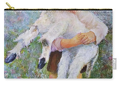 Child With A Lamb Carry-all Pouch