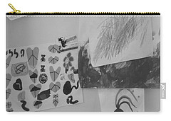 Carry-all Pouch featuring the photograph Childhood Dreams On My Refrigerator by Esther Newman-Cohen