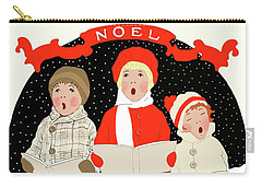 Children Caroling At Christmas Carry-all Pouch