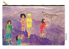 Children Catching Fireflies Carry-all Pouch