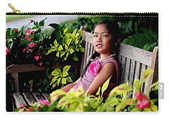 Carry-all Pouch featuring the photograph Children by Diana Mary Sharpton
