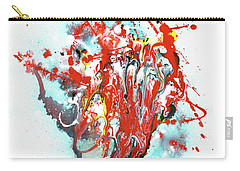 Children Of Light - Colorful Bright Read And Blue Abstract Art Painting Carry-all Pouch
