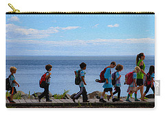 Children On Lake Walk Carry-all Pouch
