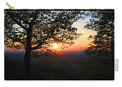 Carry-all Pouch featuring the photograph Chilhowee Sunset by Kathryn Meyer