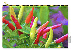 Carry-all Pouch featuring the photograph Chili Pepper Art by Kerri Farley