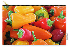Chili Peppers Carry-all Pouch by Kristin Elmquist