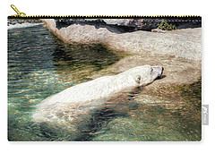Carry-all Pouch featuring the photograph Chillin' Polar Bear by Pennie  McCracken