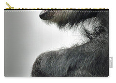 Chimpanzee Profile Vignetee Effect Carry-all Pouch